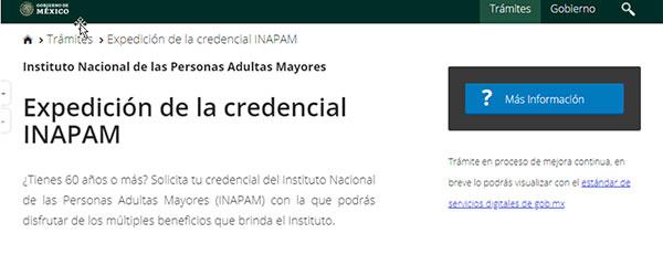 expedición de la credencial INAPAM