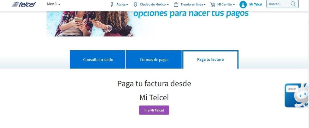 pagar telcel en línea paso 2