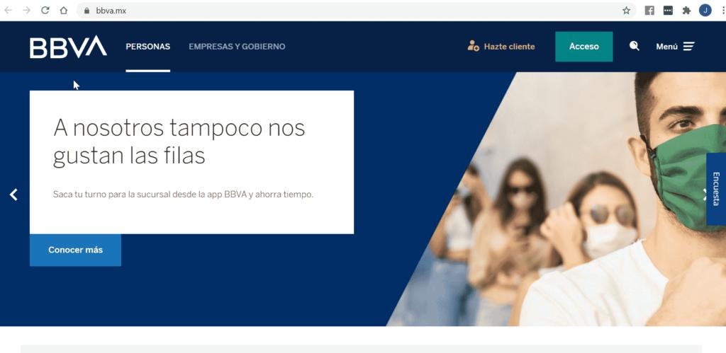 TDC Bancomer en LÍNEA paso 1