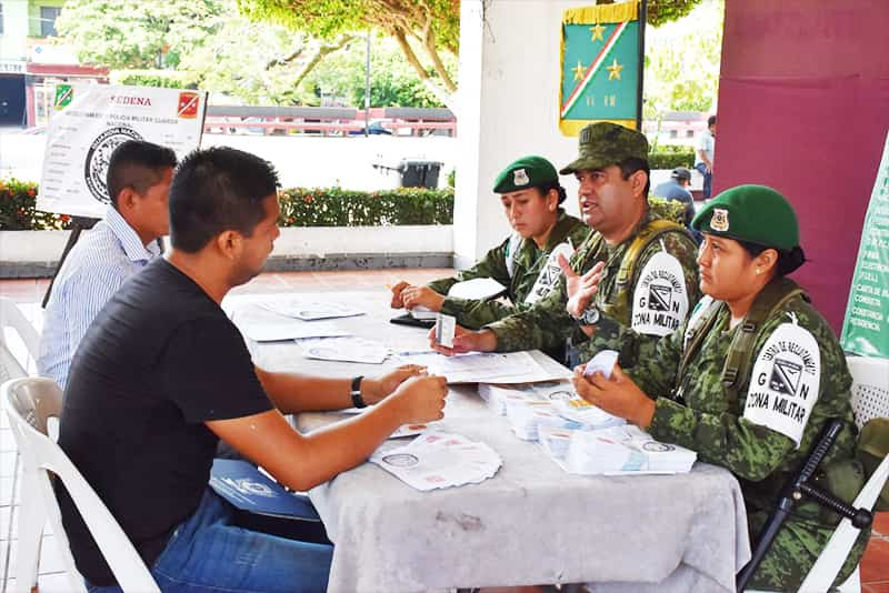 Reclutamiento de la Guardia Nacional.